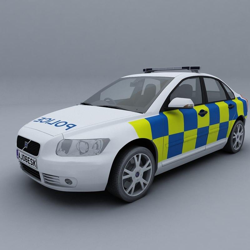 3d model uk police car. Black Bedroom Furniture Sets. Home Design Ideas
