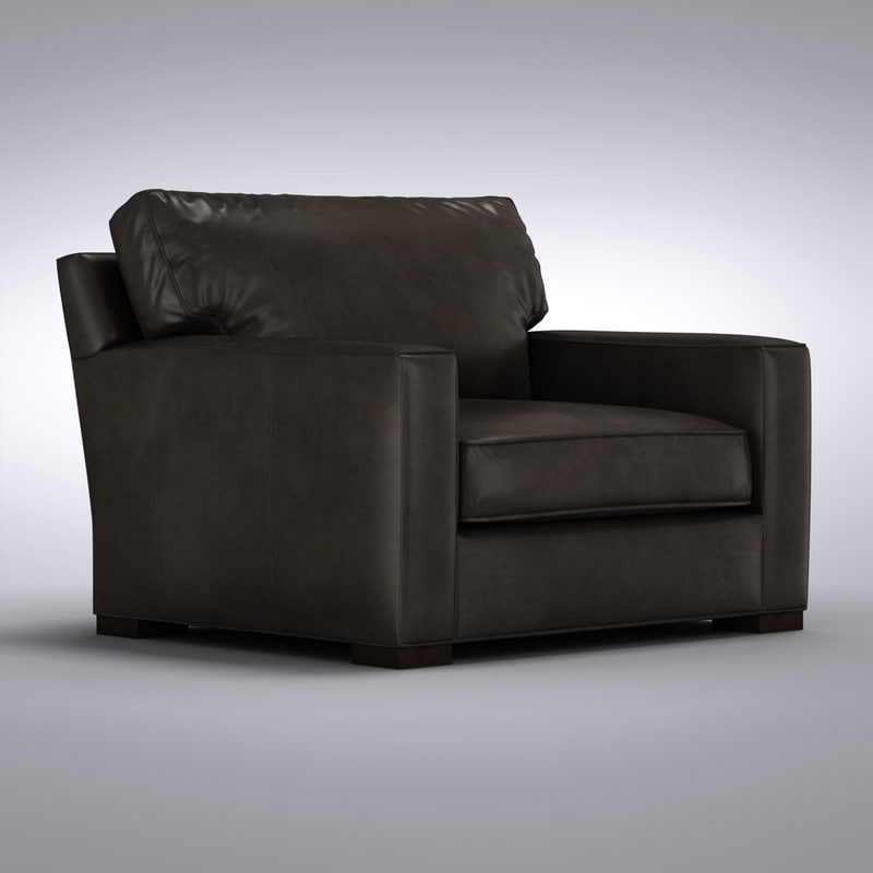 Crate and Barrel - Axis Leather Chair