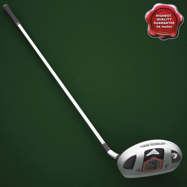 Golf Callaway Fusion Hybrid 3D Models