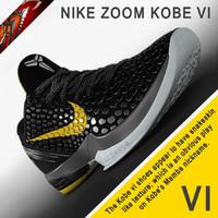 Nike Zoom Kobe VI 3D models