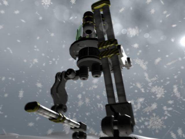 3d animation mech warrior