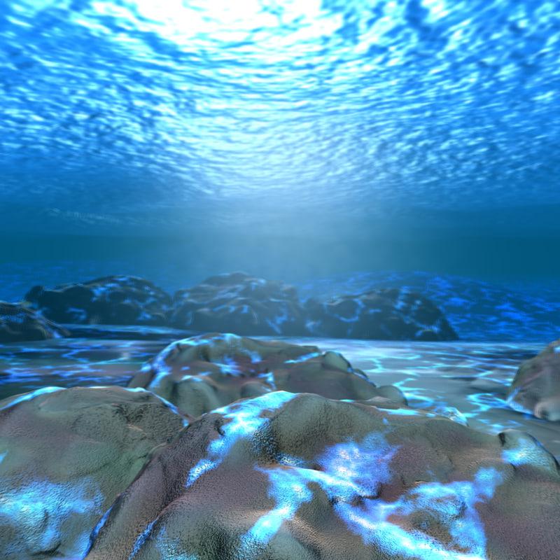 Maya Scene Maya Underwater Scene