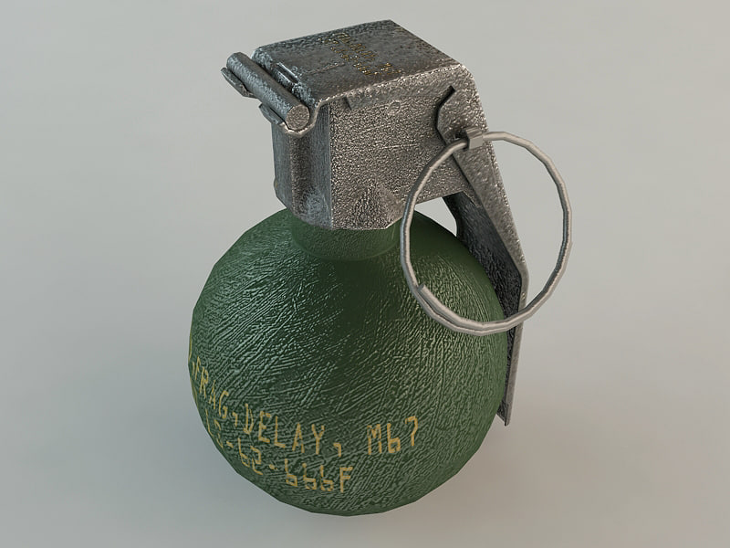 LOW POLY HAND GRENADE FRAG M67
