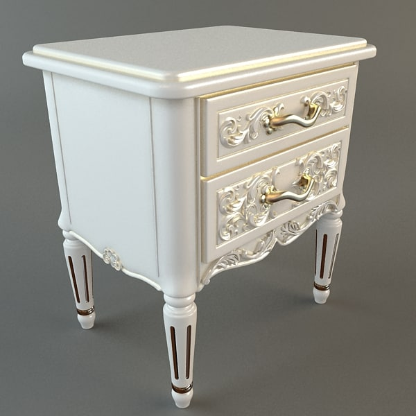 Nightstand with Drawers 3D Models