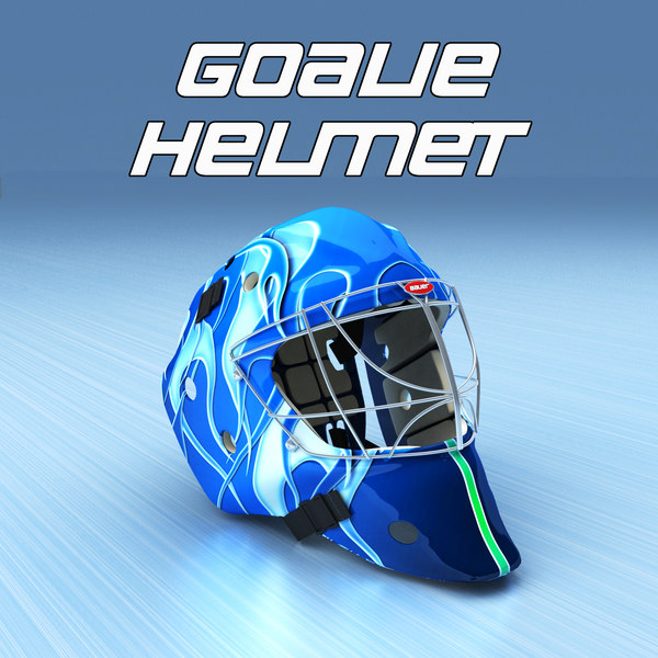 Goalie Ice Hockey Helmet 3D Models