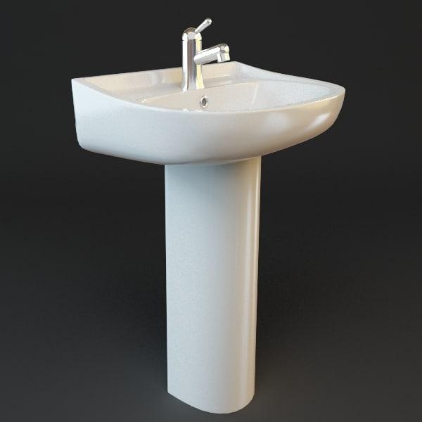 Bathroom Pedestal Sink 3D Models