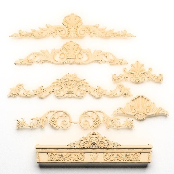 Cartouche SET 2 (7 models) 3D Models