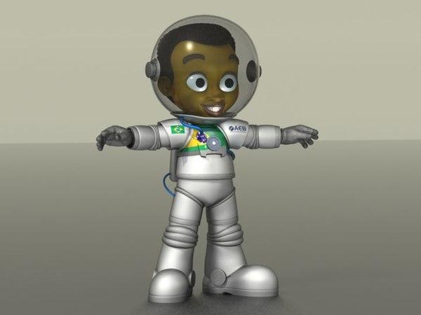 Cartoon Astronaut Boy 3D Models