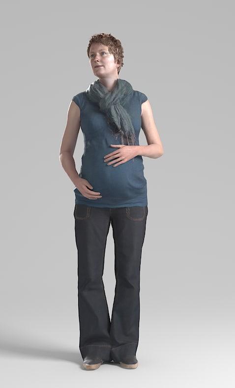 Janneke001 Pregnant Pre posed