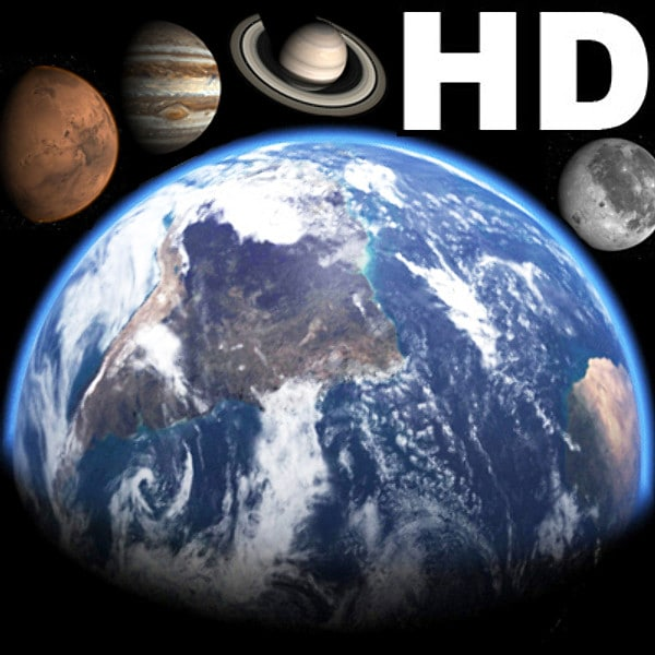 Incredible HD Earth and planets 3D Models