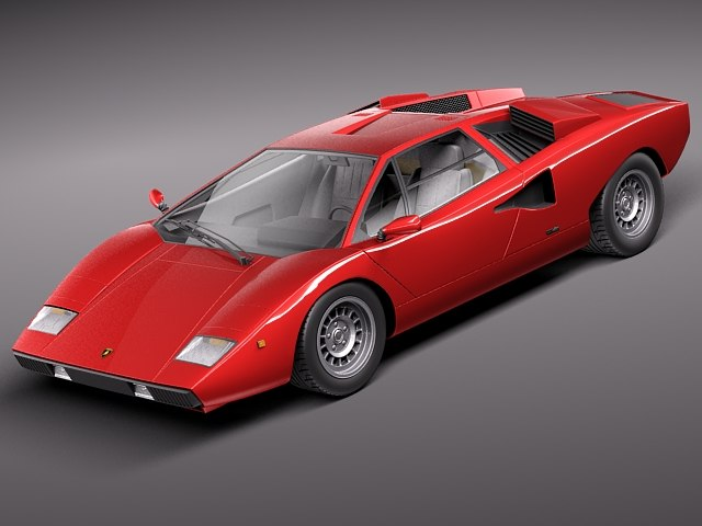 lamborghini countach lp400 sport 3d model. Black Bedroom Furniture Sets. Home Design Ideas