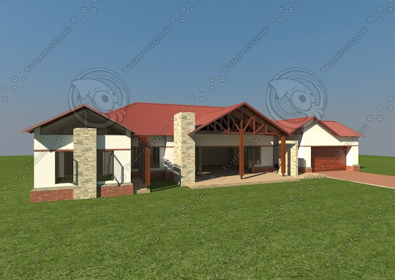 home corrugated iron 3d max