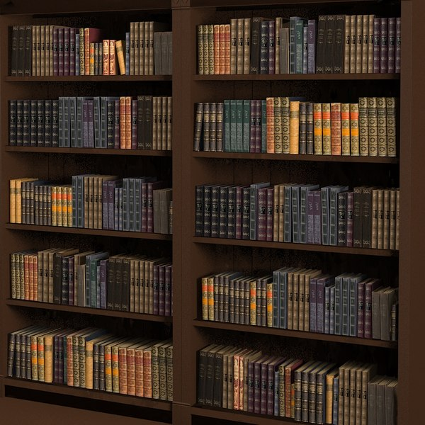 Library book collection classic 3D Models
