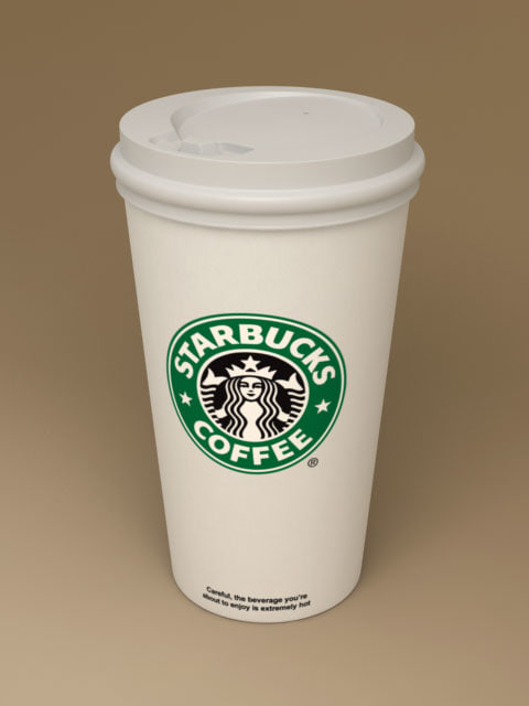 Starbucks coffee paper cup