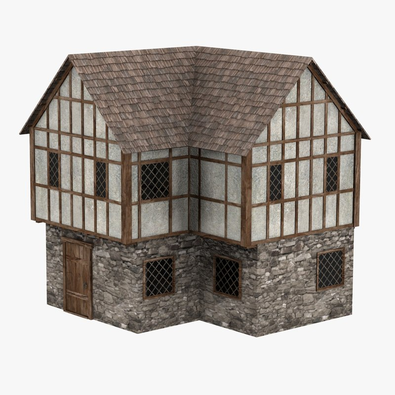 3d model medieval house for 3d model of house