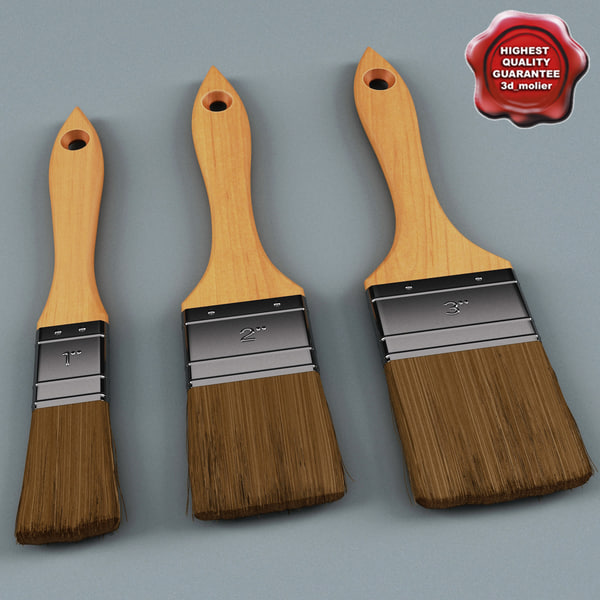 Paint Brushes Collection 3D Models