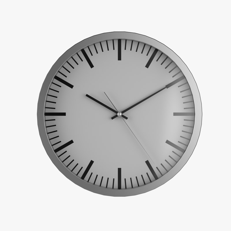 free ikea wall clock 3d model