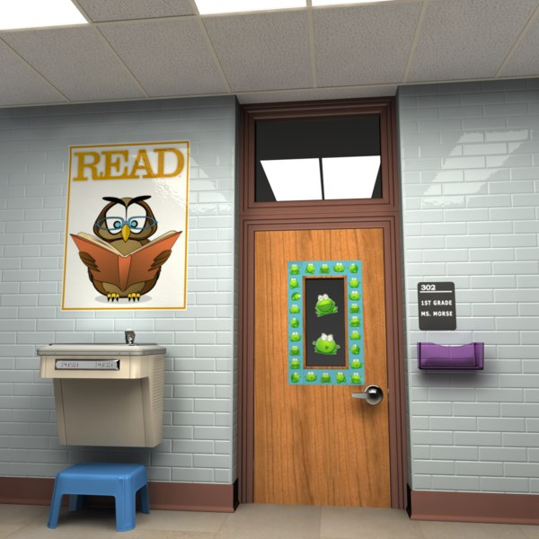 Classroom Doorway 3D Models