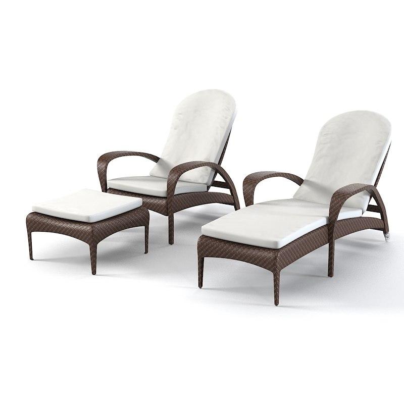 dedon tango beach chair adjustable inc wheels footstool sunlounger sun