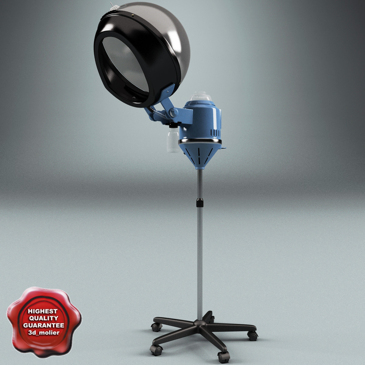 Salon stand hair dryer 3d max for Salon stand