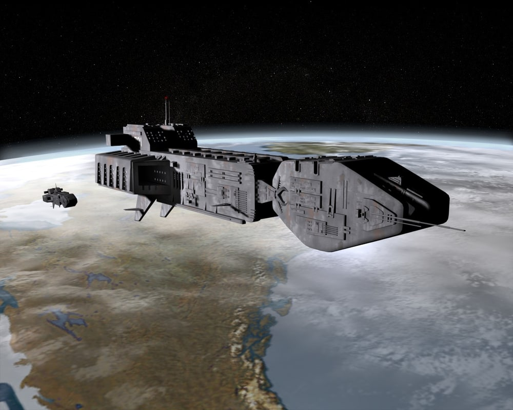 transport spaceship 3d 3ds