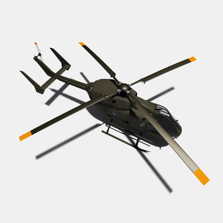 uh 72 lakota helicopter eurocopter 3d model
