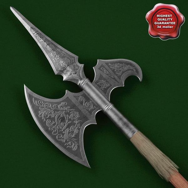 Medieval Spear V6 3D Models
