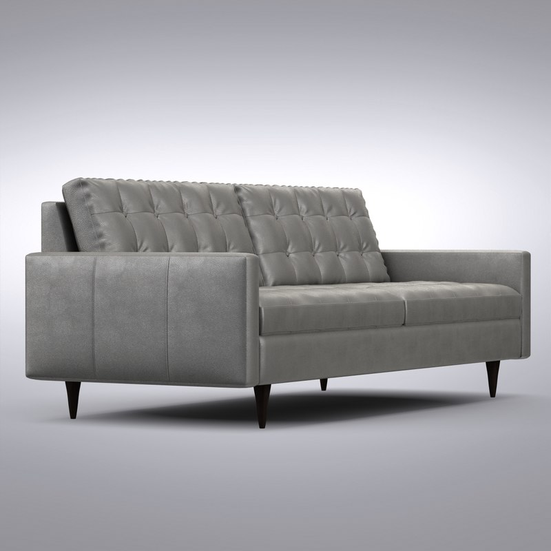 Crate and Barrel - Petrie Leather Sofa