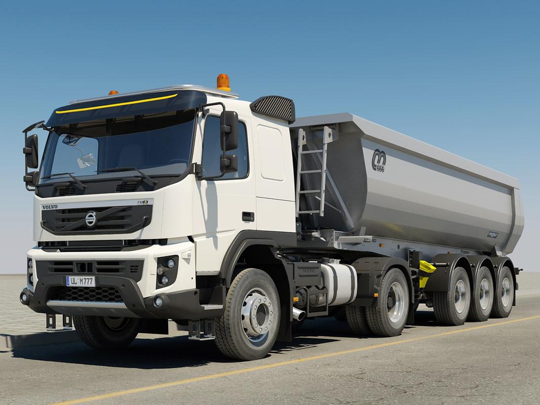Volvo FMX 4x4 trailer