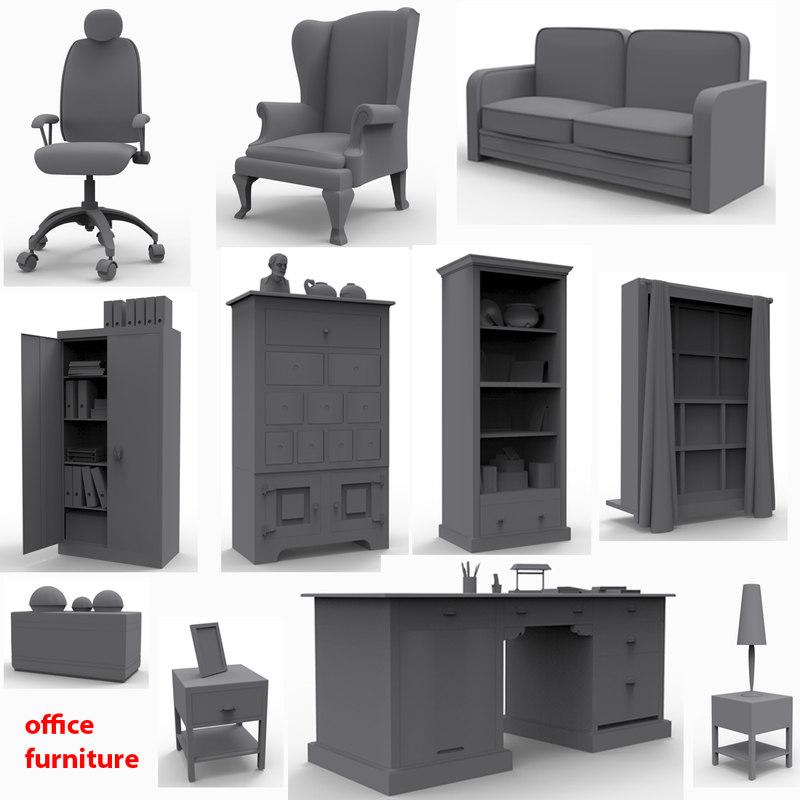 Fantastic 3d Models Gt Furnishings Gt Office Furniture Gt Office Furniture