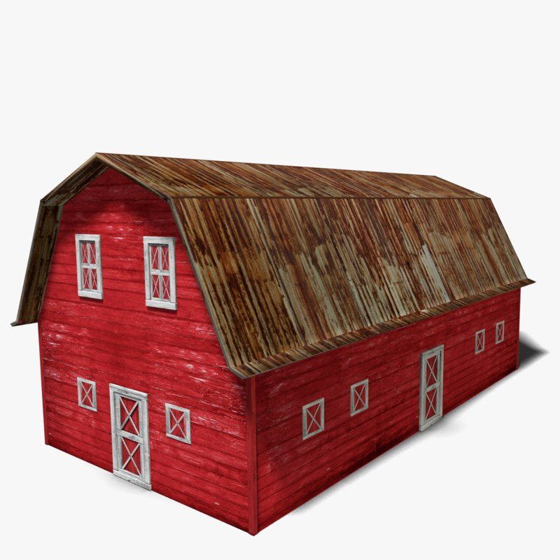 Searched 3d Models For Model Railroad Barn 1160
