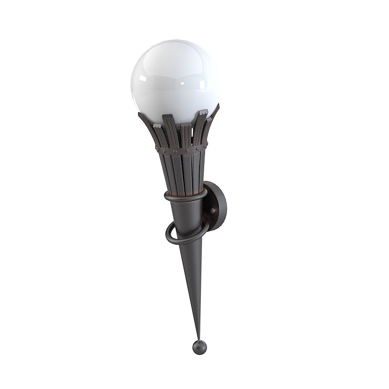 Elgo Lighting Torre Outdoor Light wall lamp sconce tall torch traditional contemporray sphere shade0001.jpg
