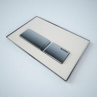 toilet button 3D models