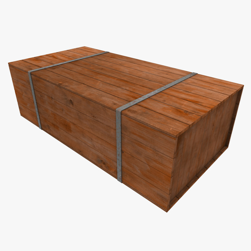 Metal Strapped Wooden Crate