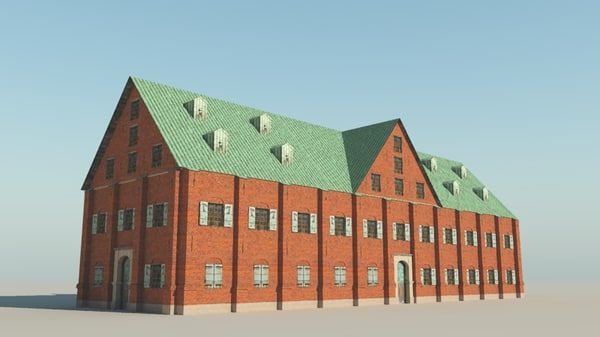 17th Century Warehouse 3D Models