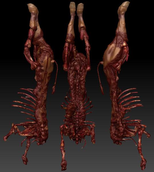 Cow Dead Body 2 3D Models