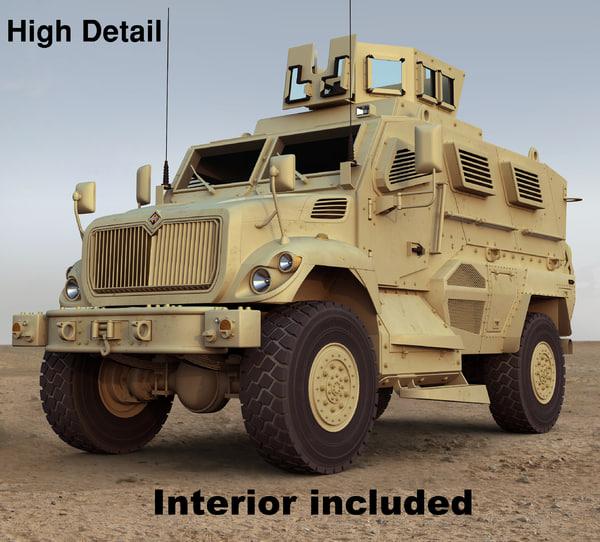 Maxxpro Dash mrap vehicle 3D Models