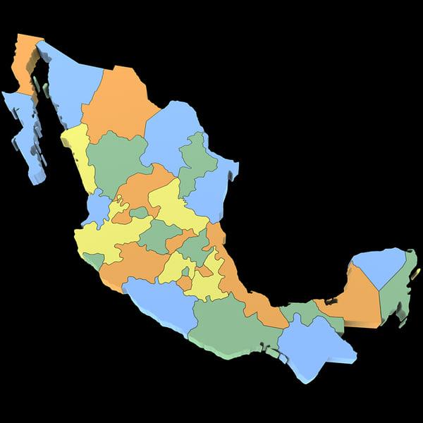 Mexico Map 3D Models