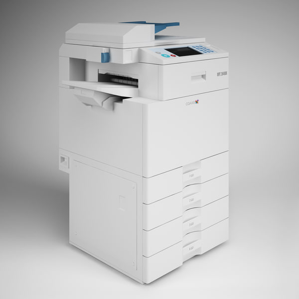 CGAxis Photocopier Machine 13 3D Models