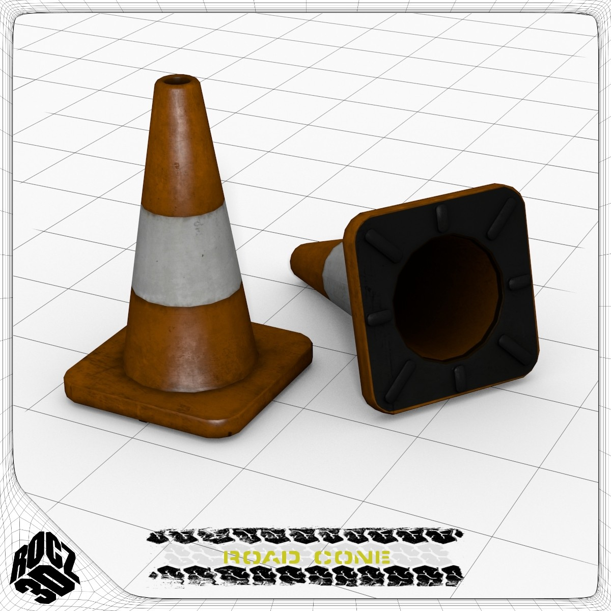 Road Cone_3d Model_Textured.jpg