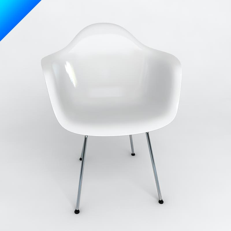 3d model eames plastic armchair