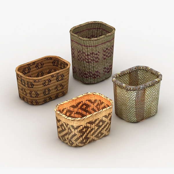 Baskets Native 3D Models