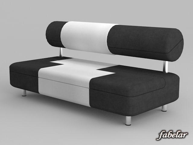 3d alcantara sofa model. Black Bedroom Furniture Sets. Home Design Ideas