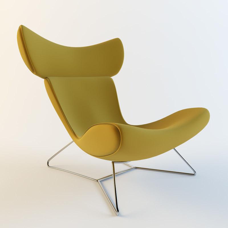 3d boconcept imola armchair model. Black Bedroom Furniture Sets. Home Design Ideas