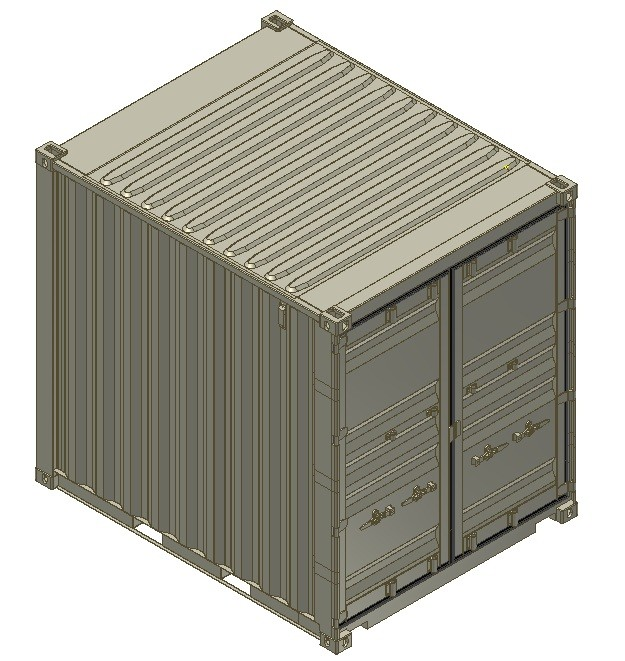 10ft iso shipping container 3d model for Tall shipping container