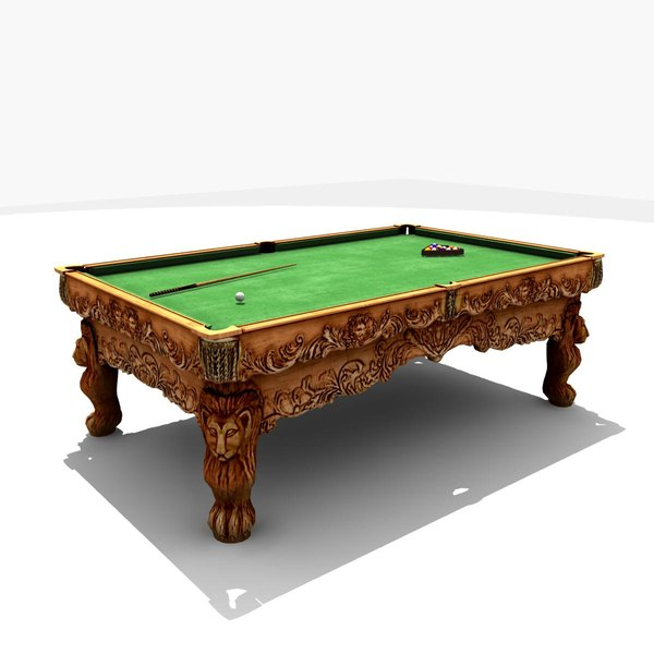 3d Billiard Table Game-Ready 3D Models
