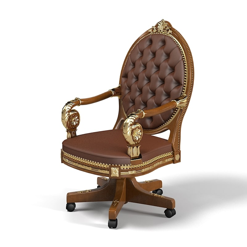 Elle Due Almaty Elledue classic empire baroque luxury boss office task sviwel chair directors executive .jpg