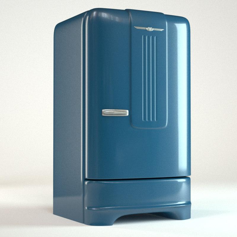 3d Model Realistic Refrigerator