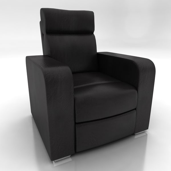 Leather TV Chair 3D Models