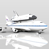 shuttle carrier aircraft 3D models